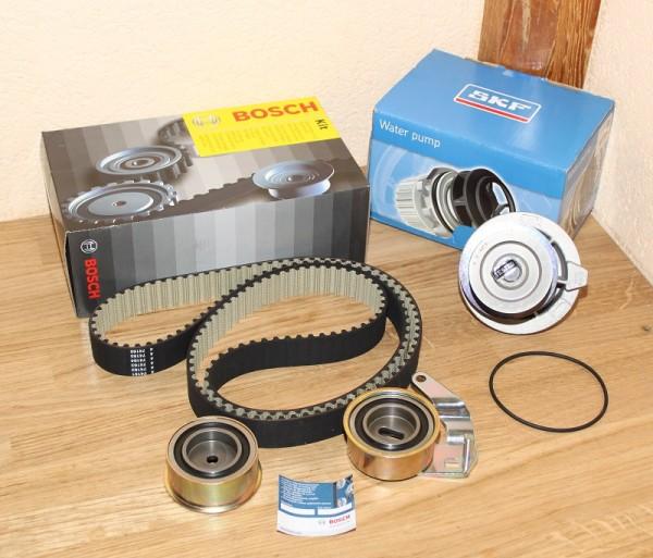 Zahnriemen Zahnriemensatz BOSCH inkl. Wasserpumpe SKF für Opel mit C20XE C20LET 2,0 16V Motor bis Mo