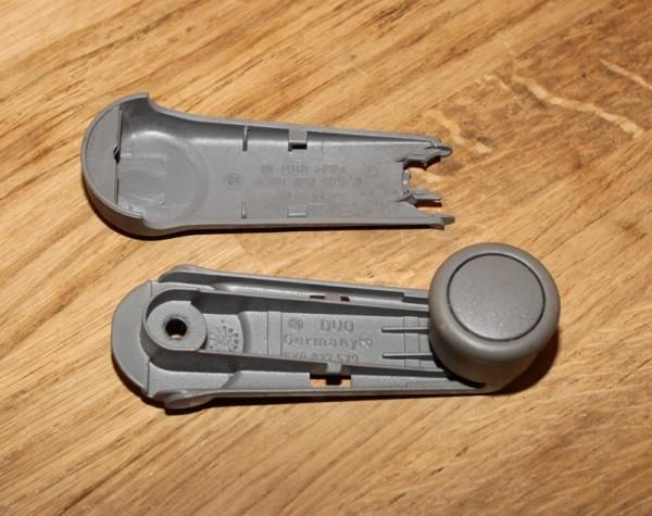 Fensterkurbel grau für VW LUPO gebraucht O.E. Teilenummern zu Vergleichszwecken: 6X0 837 579 6X0 837