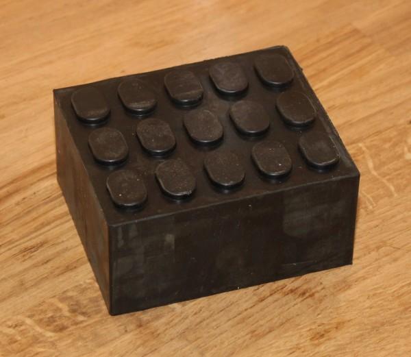 Gummiklötze Gummiklotz Gummiauflage Gummiteller für Hebebühne 60mm X 110mm X 155mm