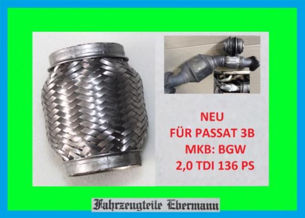 Flexrohr für Katalysator VW Passat 3BG 3B6 3B3 2,0 TDI BGW Motor 3B0254250AX KAT