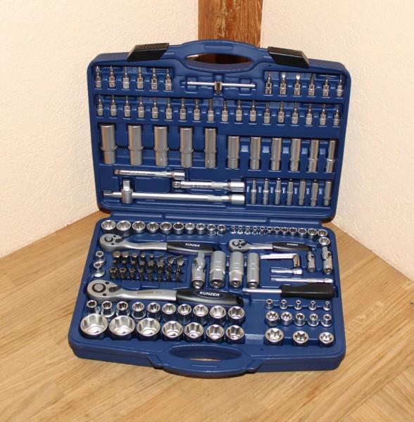 Nusskasten Kunzer 7SS150 Industrie-Werkzeugkoffer 150-teilig EAN: 4260174660004