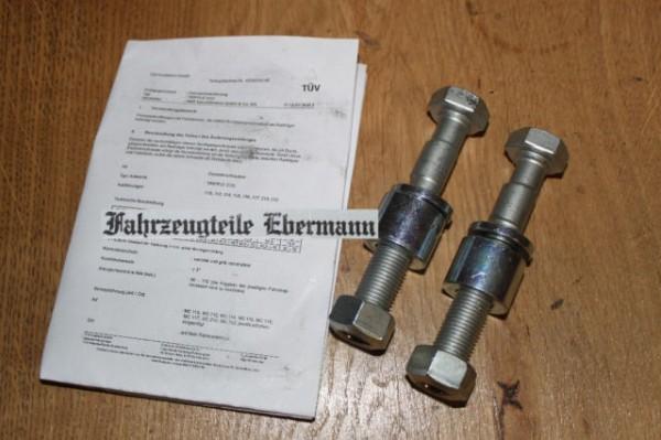 1 Satz Sturzkorrektur Schraube Opel VW Porsche Ford mit Teilegutachten +/- 3° 3317628 EAN: 404841925