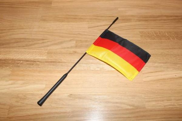 Stabantenne schwarz - rot - gelb