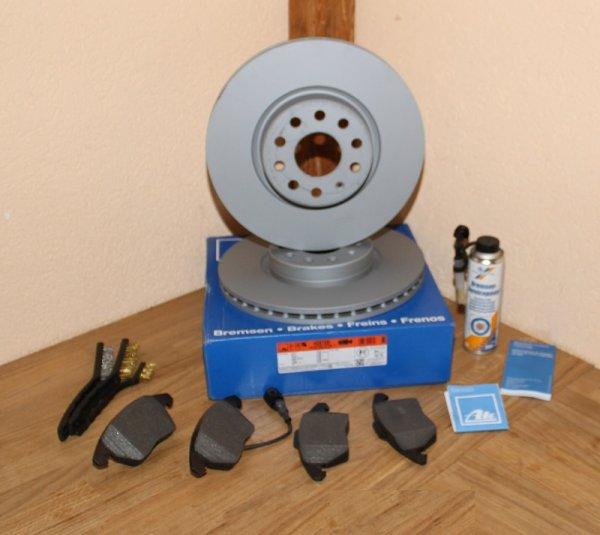 BREMSENSATZ BREMSSCHEIBE BREMSBELAG ATE 24.0125-0158.1 425158 inkl. Bremsbelag ATE 13.0460-7184.2 23587 23588 23589 607184 Vorderachse für/kompatibel zu Bremssystem PR-Nummer 1LJ 1ZA EAN: 4006633209489 4006633118033