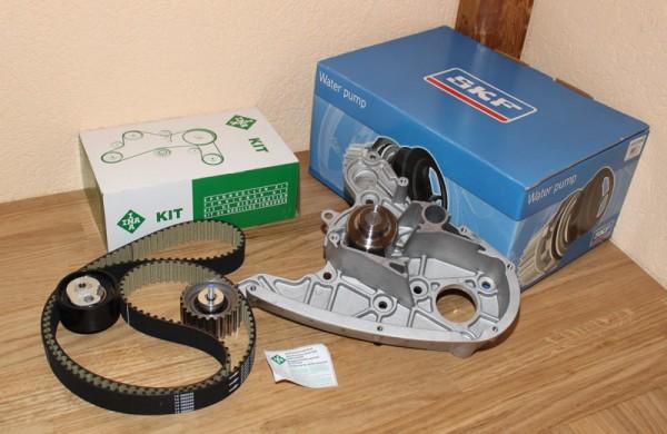 Zahnriemen Zahnriemensatz INA Wasserpumpe SKF FIAT Ducato Multijet 2,3 D